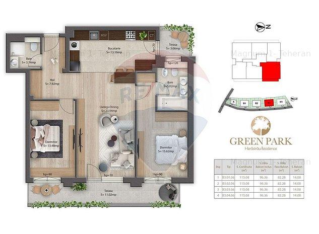 Apartament 3 camere de vanzare Herastrau B4.C6 - imaginea 1