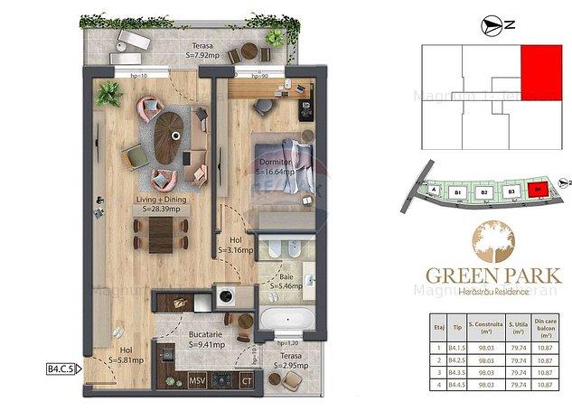 Apartament 2 camere de vanzare Herastrau B4.1.5 - imaginea 1