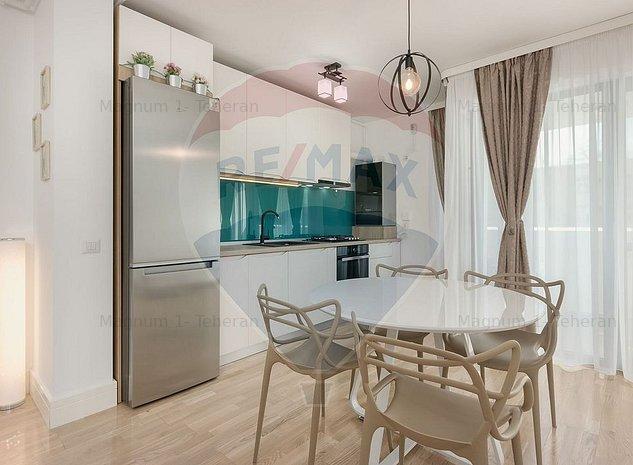 Apartament cu 2 camere de inchiriat Barbu Vacarescu - imaginea 1
