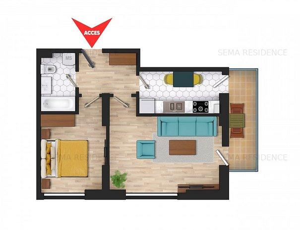Apartament 2 camere: Apartament perfect decomandat.