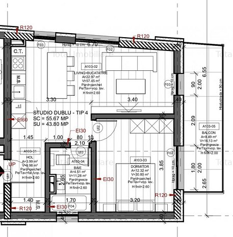 Apartament 2 camere imobil nou str Marasesti 178 - imaginea 1