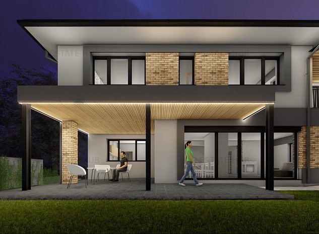 Casa noua cu dotari premium si garaj pentru 2 masini cu acoperis inierbat - imaginea 1