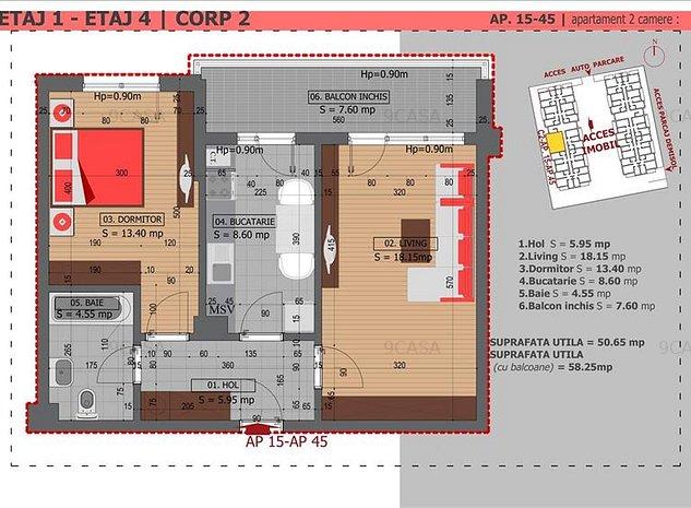 Metrou Dristor | Apartament 2 Camere | Parcare Inclusa - imaginea 1