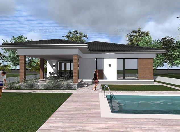 Casa individuala pe parter cu garaj , Ciarda Rosie - imaginea 1