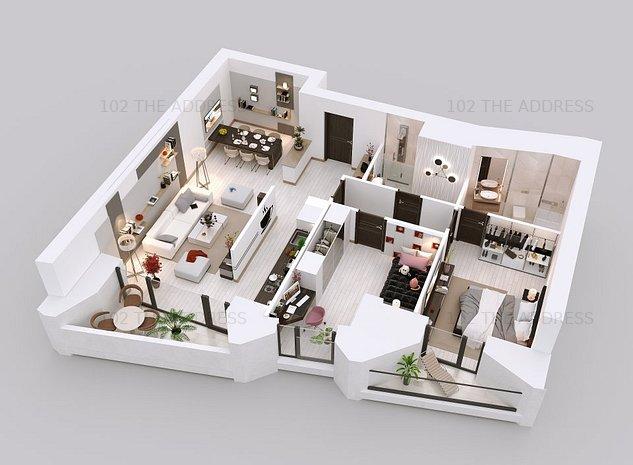 102 The Address apartament 3 camere Family 2 - imaginea 1
