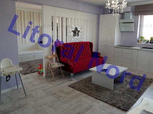 Intim, bloc nou, apartament 2 camere, modificat in 3 camere,mobilat,utilat,lux - imaginea 1