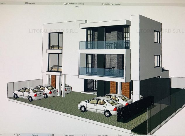 Bloc privat cu 5 apartamente,locuri parcare incluse si zona barbeque amenajata - imaginea 1