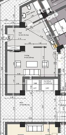 Garsoniera spatioasa - Bloc Nou - Lift - imaginea 1