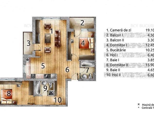 Apartament 3 camere Drumul Taberei/Parc Brancusi - imaginea 1