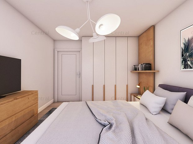 Apartament spatios 2 camere, bucatarie inchisa  - imaginea 2