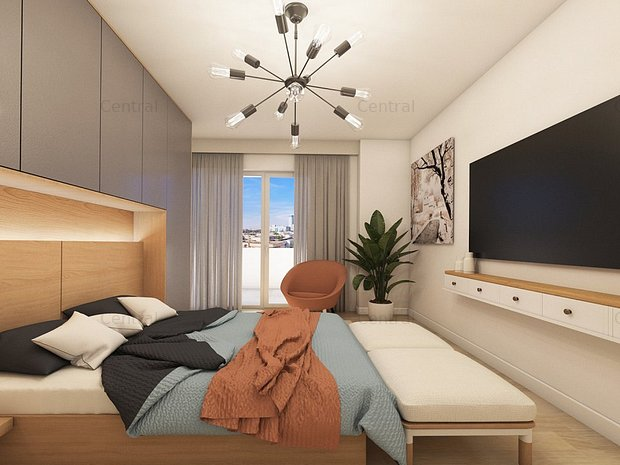Apartament central 3 camere, terasa 24 mp - imaginea 1