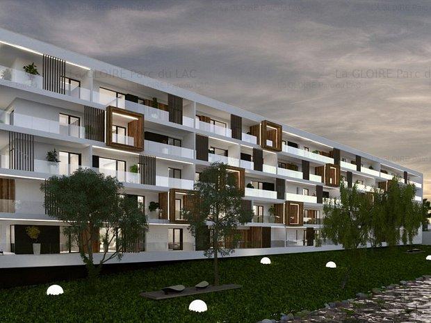 3 camere, 3 balcoane în lumina blândă a apusului, Băneasa, pe malul lacului - imaginea 1