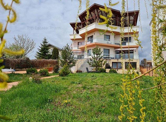 Vila de top in zona VIP, Ghermanesti cu ponton la lacul Snagov - imaginea 1