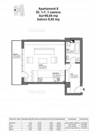 DE VÂNZARE: Apartament 46.96 mp -56.352€, complex HIMSON IASI - imaginea 1