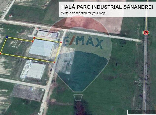 HALA  5.625mp-VANZARE SAU INCHIRIERE-IN PARC INDUSTRIAL SANANDREI -0% COMISION ! - imaginea 1