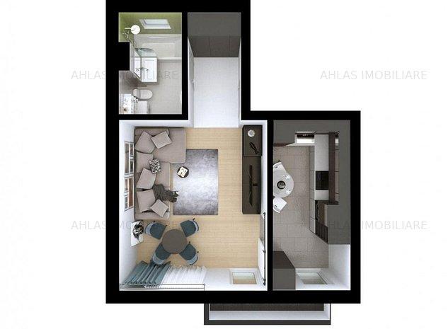 COMISION 0%- Apartamente cu 1 camera situate intr-un bloc nou, Giroc - imaginea 1