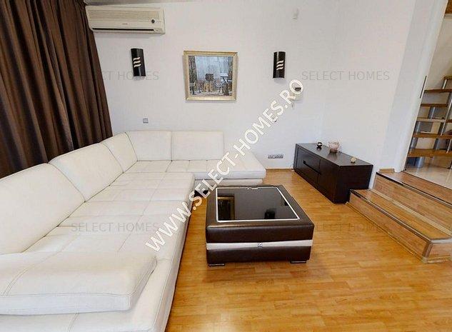 Apartament(Duplex) 3 camere de inchiriat *Primaverii* Tur Virtual - imaginea 1