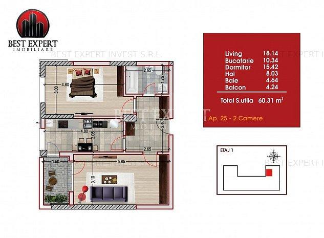 Apartament 2 camere decomandate Disponibil Noua Casa COMISION 0% - imaginea 1