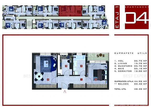 Direct Dezvoltator Apartament 2 camere decomandate | Geam la Baie - imaginea 1