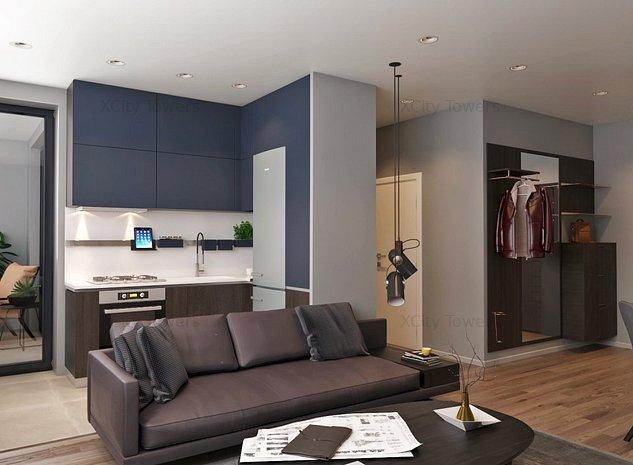 Cool & smart: 2 camere + logie + dressing în XCity Towers - imaginea 1