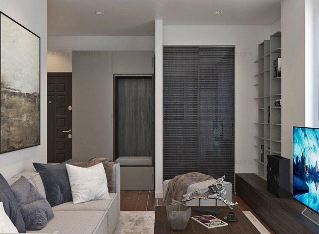 Studio cu view superb pe 2 părți, cu 2 camere în XCity Towers - imaginea 1