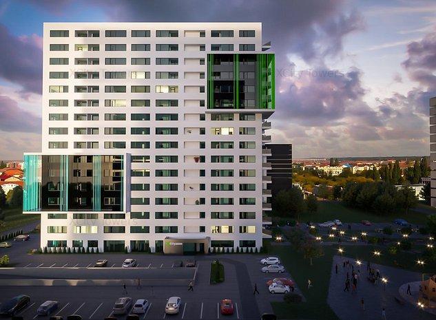The Cool meets the City: 3 camere, 2 balcoane și dressing în XCity Towers - imaginea 1