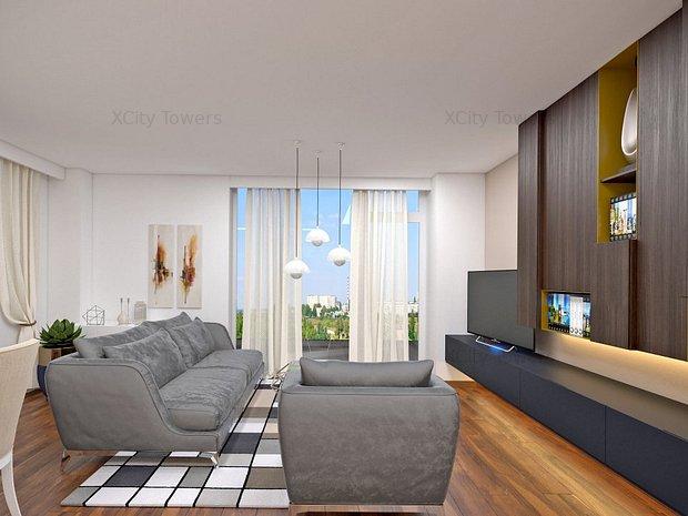 Apartament 2 camere: 2 balcoane, vedere pe 2 părți și dressing, în Tower 1 - imaginea 2