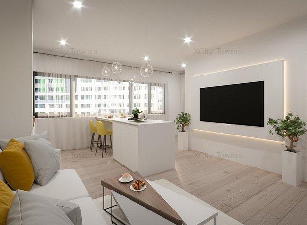Preț lansare Tower 2 - studio cu stil: dormitor, living, logie - imaginea 1