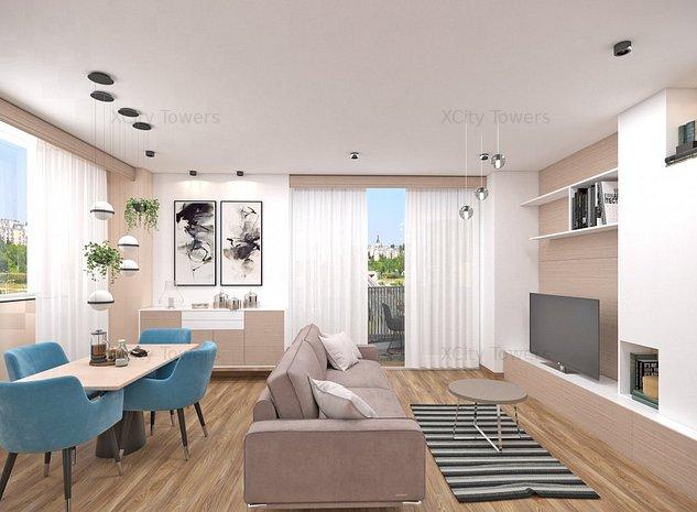 Apartament superb cu 2 camere. View pe 2 laturi - imaginea 1