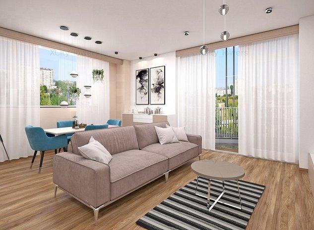 Apartament nou și spațios cu 2 camere. View splendid către parc - imaginea 1