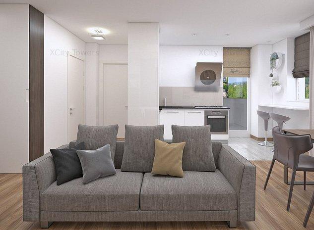 Apartament cu 2 camere cochet și spațios. Sistem smart-home inclus - imaginea 1