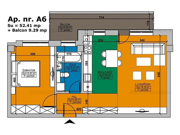 TIMISOARA - Apartament de 2 camare in Imobilul Cehov VREAUCASANOUA - imaginea 1