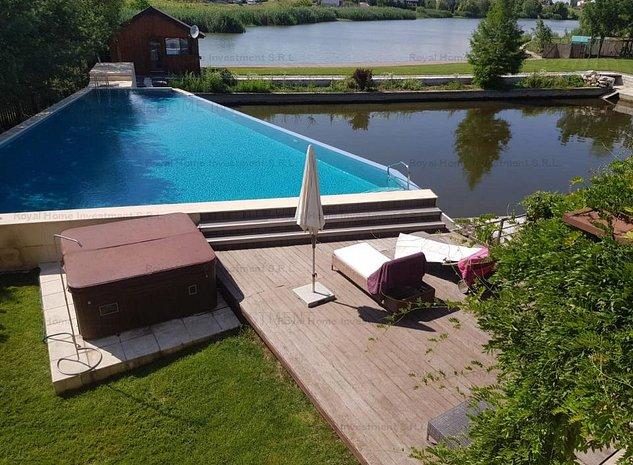 NOU | Casa Impecabila | Lac in curte | 8 Camere | Zona Corbeanca - imaginea 1