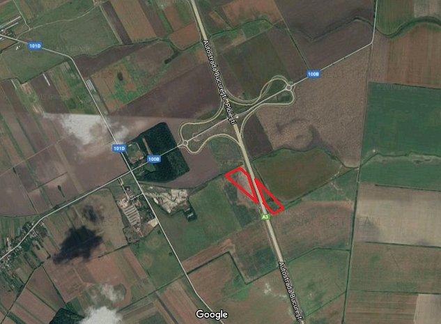 Teren cu deschidere Autostrada Bucuresti-Ploiesti (A3) - imaginea 1