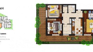 Apartament de vânzare 3 camere, în Brasov, zona Racadau
