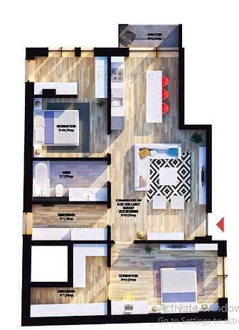 Apartament cu multiple incaperi - imaginea 1