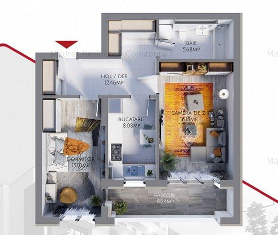 Apartament 2 camere bloc nou, Maurer Residence Constanta MR59 - imaginea 1