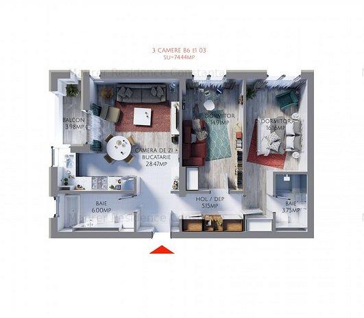 Apartament 3 Camere bloc nou, Maurer Residence, MR74 - imaginea 2