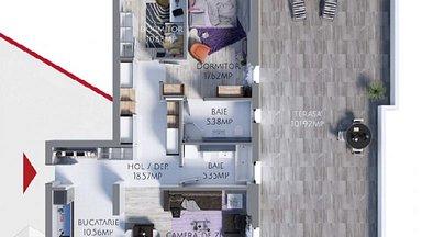 Apartament de vânzare 3 camere, în Constanta, zona Tomis Plus