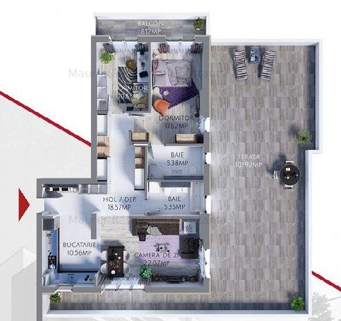 Apartament 3 camere de vanzare in bloc nou, direct dezvoltator MR90 - imaginea 1