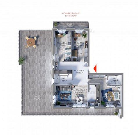 Maurer Residence Constanta -Apartament 4 camere MR107 - imaginea 1
