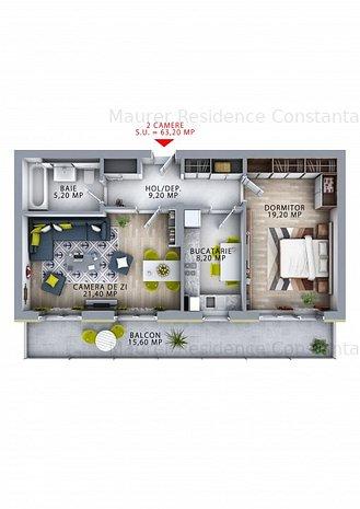 Maurer Residence Constanta- Apartament 2 camere MR63 - imaginea 1