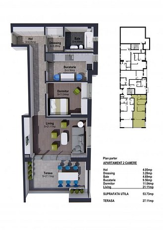 Apartament 2 camere confort sporit-pret dezvoltator - imaginea 1
