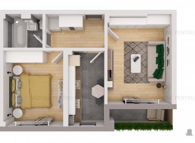 Apartament 2 camere Militari Residence - imaginea 1