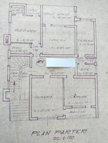 Apartament 4 camere pe Republicii, 145 mp, garaj,2 bai,terasa - imaginea 1