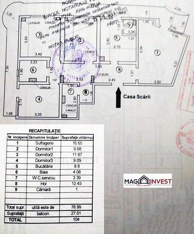 Apartament 4 camere, decomandat, 104mp, 2 bai, Micro 18, str. Brailei - imaginea 1