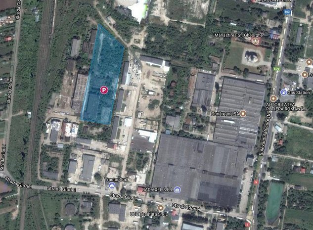 Teren cu destinatie industriala, Strada Gloriei - Giurgiu - imaginea 1