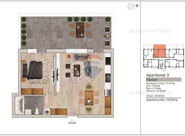 Apartamente de vanzare 2 camere / FLORESTI CENTRAL - imaginea 1