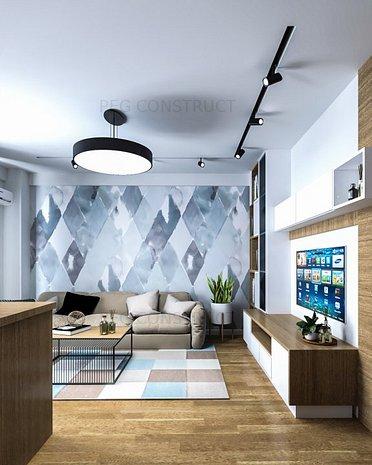 Apartament 2 camere open-space Pacurari Kaufland - imaginea 1