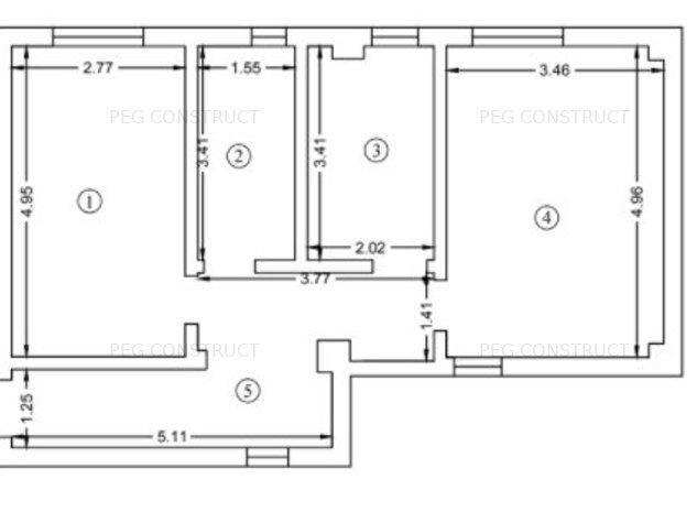 Apartament cu 2 camere foarte spatios in Pacurari Kaufland - imaginea 1